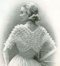 INSTANT PDF 1950s Vintage Womens Knit SHRUG Pattern Lacey Fan Sleeved Sweater Bolero Cape Lovely For Bride Wedding Knitting Pattern. $3.00, via Etsy.