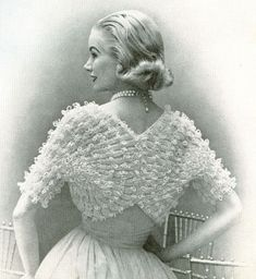 INSTANT PDF 1950s Vintage Womens Knit SHRUG Pattern Lacey Fan Sleeved Sweater Bolero Cape Lovely For Bride Wedding Knitting Pattern. $3.00, via Etsy.