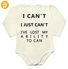 I Can't I Just Can't. I've Lost My Ability To Can Baby Long Sleeve Romper Bodysuit Extra Large - Baby bodys baby einteiler baby stampler (*Partner-Link)