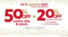 50% Off Entire Store + Extra 20% Orders Over $40 at Carter's - Sale