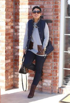Casual Friday Puffer Vest + Jeans - Mimi G Style