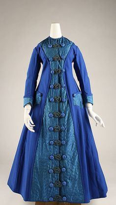 Dressing gown Date: early 1870s Culture: American  Medium: silk, wool, cotton
