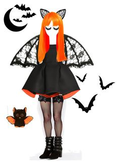 """Bat-tastic!"" by disabledpaladin on Polyvore featuring Leg Avenue, Parlor, MANGO and Halloween"