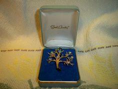 Vintage 1960s Sarah Coventry Mothers Pin Brooch in Original Box Swarovski Austrian Rhinestones by BlackRain4, $49.99