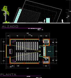 Plan Autocad d'une Salle multifonctionnelle dwg                                                                                                                            More