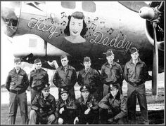 Photo Nose Art Hey Daddy B 17 Bomber, WWII on PopScreen
