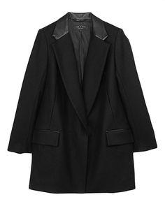 rag & bone Official Store, Dust Bowl Coat, black fl, Womens : Ready to Wear : Coats, W2362011G
