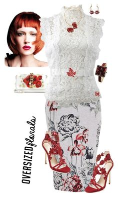 """Oversized Florals"" by jacksondobe ❤ liked on Polyvore featuring Melissa McCarthy Seven7, Oscar de la Renta, Marni, TOKYObay, Dolce&Gabbana and plus size clothing"
