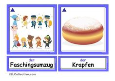 Fasching/ Karneval _ Flashcards groß (A5)