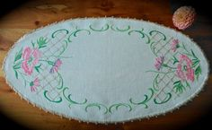 Check out this item in my Etsy shop https://www.etsy.com/uk/listing/477383079/hand-embroidered-vintage-floral-linen