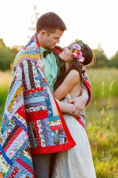 Boho chic engagement shoot