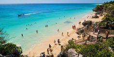 Tulum, Mexico is paradise. It's one of the most beautiful beaches in Mexico, and to top it off, it's located next to a Mayan ruin.