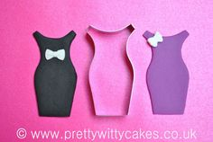 A Little Black Dress Cutter by  @prettywittycake so so chic, imagine lace or pearls