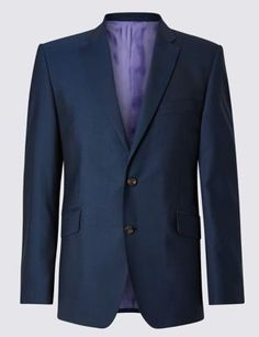 Pure New Wool Tailored Fit 2 Button Jacket  Clothing