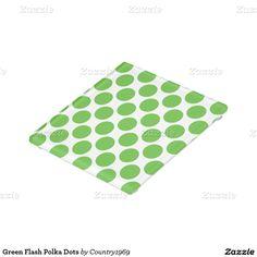 Green Flash Polka Dots Glass Coaster