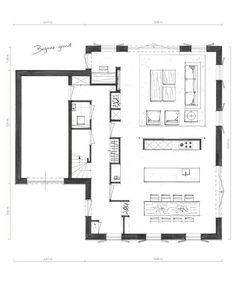 Small House Plans, House Floor Plans, Building Plans, Building Design, Atrium House, Architectural Floor Plans, Up House, House Layouts, Architecture Plan