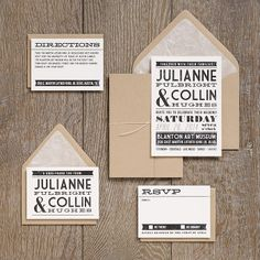 Love this Billboard style. Rustic/country! Wedding Invitation Ideas | Paper Source