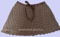 Dames élégantes courte jupe / crochet : Jupe par marianageleva