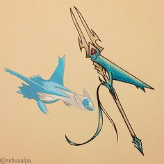 Pokeapon No. 381 - Latios. #pokemon #latios #wingspear #longinus #pokeapon