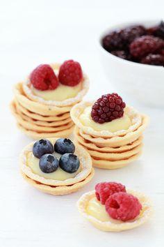 mini berry tarts.