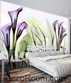 Stunning A beautiful dream fresh and romantic Purple flowers in full bloom wall art wall decor mural