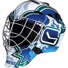 Franklin Youth Vancouver Canucks GFM 1500 Street Hockey Goalie Face Mask, Multicolor