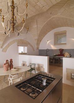 la cucina della casa Morrocan Architecture, Architecture Design, Interior Design Kitchen, Interior And Exterior, Interior Decorating, Minimal Kitchen, Rustic Chic, Villa, Interior Inspiration