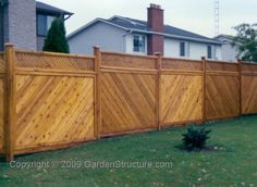 Diagonal Board Fence Designs