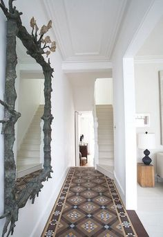 Hardwood Floors With Carpet In Hall And Stairs Only
