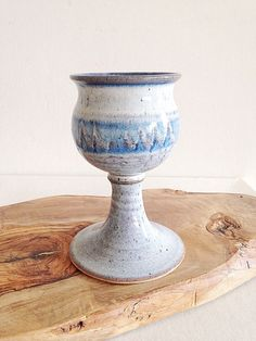 Handmade Pottery Chalice Goblet Witch Alter, Communion Sets, Stoneware Clay, Handmade Pottery, I Shop, Planter Pots, Shapes, Antiques, Vintage