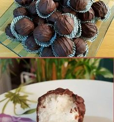 Πεντανόστιμα σοκολατάκια Bounty νηστίσιμα !!! Vegan Sweets, Vegan Desserts, Candy Recipes, Dessert Recipes, Cookbook Recipes, Cooking Recipes, Nutella, Breakfast Dessert, Greek Recipes