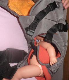 """Neue babytrage """"Kids Zone"""" Grau-Orange"""