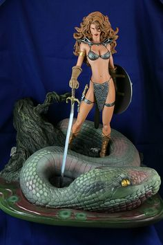 Premiere Red Sonja Statue from Dynamite Select
