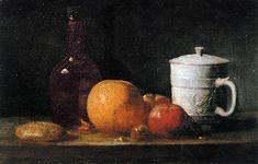 """""""Fruits, bouteille, pichet et massepain"""", de Jean-Baptiste Siméon Chardin - Arts et scènes - Télérama.fr"""
