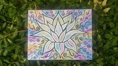 Items similar to Lotus & Light Bohemian Canvas Art in Acrylic on Canvas Tie Dye and Black Detail Painting Hippy Buddha Spiritual Symbol on Etsy Lotus, Etsy Shop, Unique Jewelry, Handmade Gifts, Vintage, Art, Kid Craft Gifts, Art Background, Lotus Flower