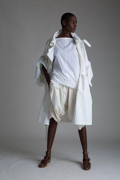 Vintage J.C. de Castelbajac Coat, Comme des Garçons Gauchos and Reed Krakoff Shirt  Designer Vintage Clothing Dark Minimal Fashion