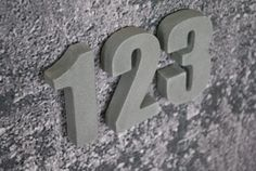 Concrete Residential / Commercial Address Numbers by fmcdesign, $25.00