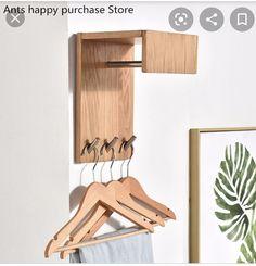 Clothes Hooks, Hanging Clothes, Wooden Coat Rack, Bedroom Cabinets, Corner Wall, Wood Bedroom, Bedroom Ideas, Coat Hooks, Home Decor Store