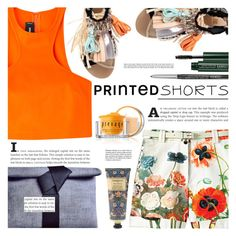 """Prints Charming: A Shorts Story"" by barbarela11 ❤ liked on Polyvore featuring STELLA McCARTNEY, Dsquared2, MSGM, Clinique, William Morris and Elizabeth Arden"