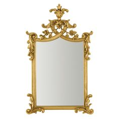 Hondel Wall Mirror, Gold Polyresin Frame