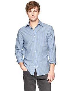 Lived-in multi striped shirt | Gap