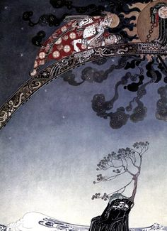 Some inside illustrations of 'East of the Sun and West of the Moon - Old Tales from the North'; illustrated by Kay Nielsen. Published 1914 by Hodder and Stoughton
