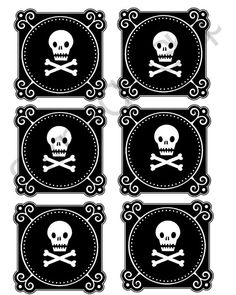 PRINTABLE Poison Labels Printable Pirate gift tags