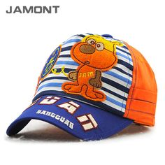 f1657c0f9c3  JAMONT  2016 Children Hat Cotton Baseball Cap Kids Cartoon Boys or Girls  Snapbacks Caps