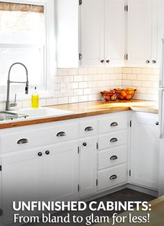 Check out the full article at https://builderssurplus.us/kitchen-cabinets-louisville-newport-cincinnati/take-unfinished-cabinets-bland-to-glam/! Builders Surplus is a home improvement and remodeling retailer that also offers free design services and installation services. We're located in Louisville, Kentucky and Newport, Kentucky, also serving Cincinnati Ohio.