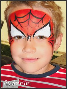 spiderman face painting by mimicks