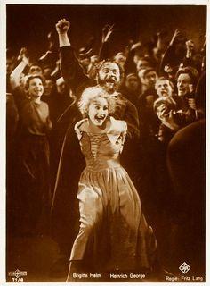 Brigitte Helm has a fantastic face. I love silent film facial expressions. I could do this. Time travel! Metropolis (1927)
