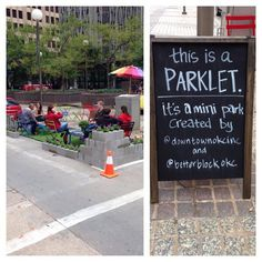 PARKing Day in OKC! Parklets are spread throughout the city for the worldwide Park(ing) Day event.