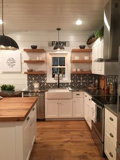 Urban farmhouse more. urban farmhouse more farmhouse kitchen sinks Shabby Chic Kitchen, Farmhouse Kitchen Decor, Kitchen Redo, Home Decor Kitchen, New Kitchen, Home Kitchens, Kitchen Remodel, Kitchen Dining, Kitchen Ideas