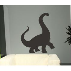 What little boy wouldn't love this dinosaur to draw on? This is actual chalkboard vinyl, just put it up and start writing on it. Chalkboard works with chalk and even better with chalkboard pens! Wipes